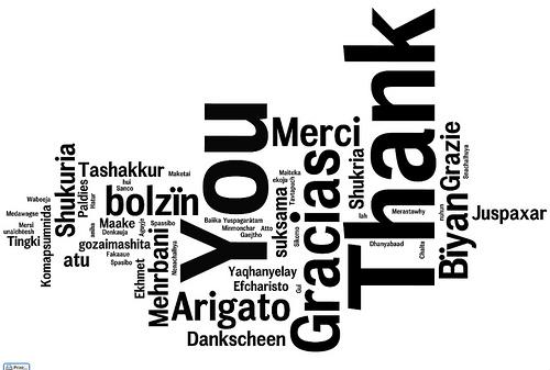 Gracias en varios idiomas